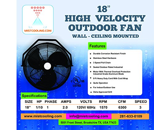 Misting-Fan-Kit-18-Inch-Outdoor-Fan-with-250-PSI-Misting-Pump-Stainless-Steel-Misting-Fan-Ring-0-0