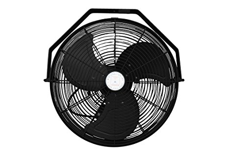Misting-Fan-System-4-Black-Fans-18-Inch-Fans-with-1500-PSI-Misting-Pump-with-Patented-Center-Hub-for-Residential-Restaurant-Industrial-and-Commercial-Application-0-0