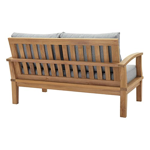 Modway-EEI-1144-NAT-GRY-SET-Marina-Premium-Grade-A-Teak-Wood-Outdoor-Patio-Loveseat-Natural-Gray-0-0