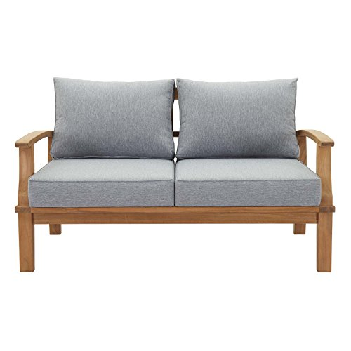 Modway-EEI-1144-NAT-GRY-SET-Marina-Premium-Grade-A-Teak-Wood-Outdoor-Patio-Loveseat-Natural-Gray-0-1