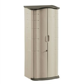 MyEasyShopping-Heavy-Duty-Vertical-Outdoor-Cabinet-Weather-Resistant-Storage-Shed-Storage-Shed-Resistant-Weather-Patio-Outdoor-Deck-Box-Resin-Garden-Water-0-0