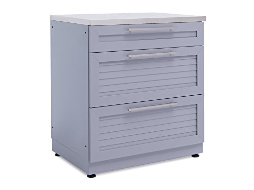 NewAge-65402-32-3-Drawer-Outdoor-Kitchen-Cabinet-0-Ash-Gray-0-0