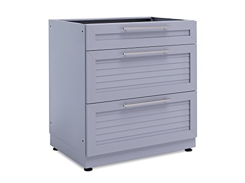 NewAge-65402-32-3-Drawer-Outdoor-Kitchen-Cabinet-0-Ash-Gray-0