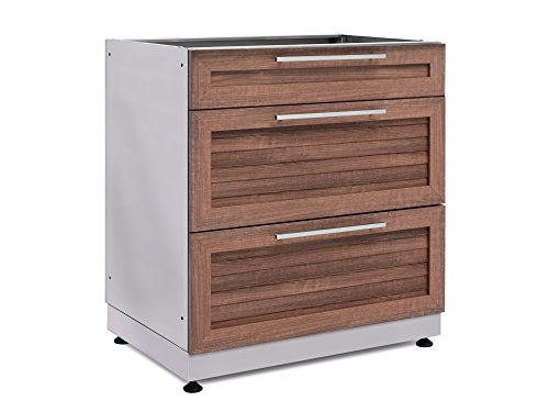 NewAge-65602-NewPage-Products-32-3-Drawer-in-Stainless-Steel-Grove-Outdoor-Kitchen-Cabinet-0-0