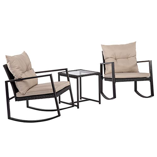 Outdoor-3-PCS-Wicker-Rocking-Chair-Patio-Rattan-Bistro-Set-Garden-Conversation-Sets-Patio-Furniture-For-Porch-Poolside-Lawn-Backyard-0