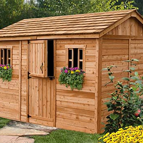 Outdoor-Living-Today-CB128-Cabana-12-x-8-ft-Garden-Shed-0