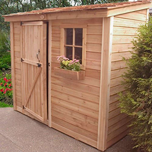Outdoor-Living-Today-SS84-SpaceSaver-8-x-4-ft-Storage-Shed-0