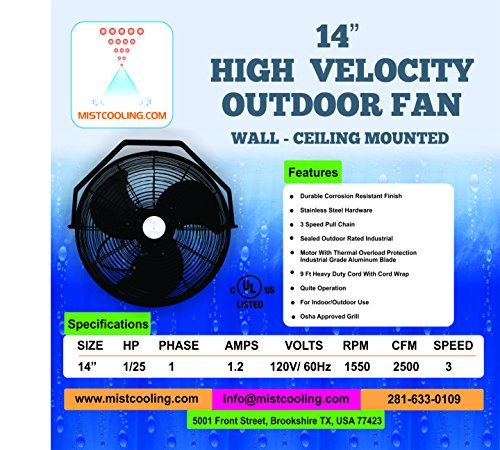 Outdoor-Misting-Fan-Black-Color-with-250-PSI-Misting-Pump-with-Stainless-Steel-Misting-Ring-for-Residential-Patio-Misting-Outdoor-Misting-Applications-Smart-Phone-Compatible-0-0