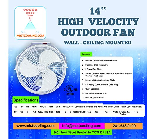 Outdoor-Misting-Fans-with-Fan-Misting-System-and-Calcium-Inhibitor-Filter-Wall-Mount-Fan-for-Residential-Industrial-and-Restaurants-Black-and-White-Colors-0-0