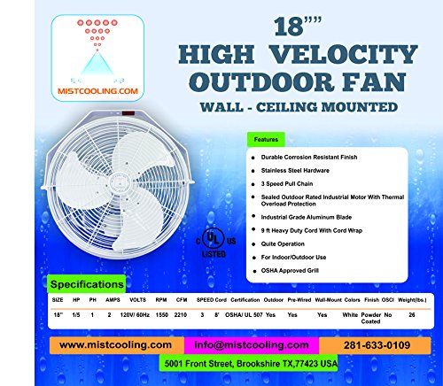 Outdoor-Misting-Fans-with-Fan-Misting-System-and-Calcium-Inhibitor-Filter-Wall-Mount-Fan-for-Residential-Industrial-and-Restaurants-Black-and-White-Colors-0-1