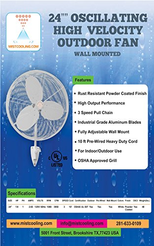 Outdoor-Misting-Fans-with-Fan-Misting-System-and-Calcium-Inhibitor-Filter-Wall-Mount-Fan-for-Residential-Industrial-and-Restaurants-Black-and-White-Colors-0-2