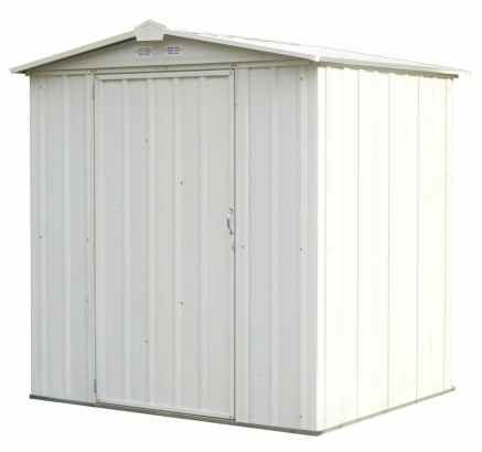 Outdoor-Storage-Shed-Cabinet-Steel-Cream-0