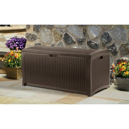 Outdoor-Storage-Wicker-Bench-with-Handles-Resin-Construction-Stay-Dry-Design-Deck-Box-for-Storing-Gardening-Tools-Pool-Supplies-Chair-Cushions-Extra-Space-Patio-Furniture-BONUS-E-book-0-0