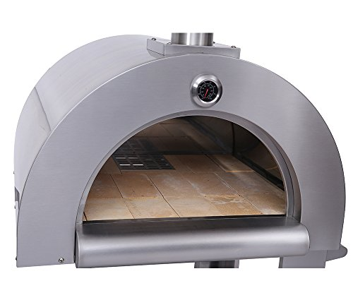 Outdoor-Wood-Fried-Pizza-Oven-Stainless-Steel-Cooking-Area-517ft-Sliver-With-Wheels-0-1