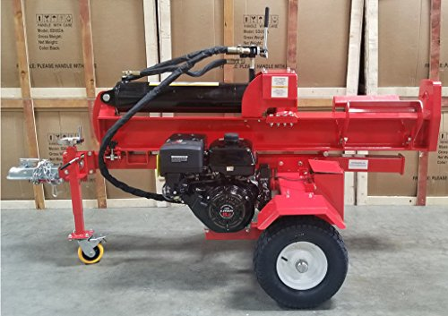 Samson-Machinery-50-Ton-15HP-Gas-Powered-18GPM-Hydraulic-Log-Wood-Splitter-Cutter-wElectric-Start-0-0