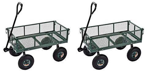 Sandusky-Lee-CW3418-Muscle-Carts-Steel-Utility-Garden-Wagon-400-lb-Load-Capacity-21-34-Height-x-34-Length-x-18-Width-0