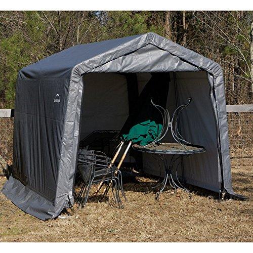 ShelterLogic-11-x-8-x-10-ft-Peak-Frame-Storage-Shed-0