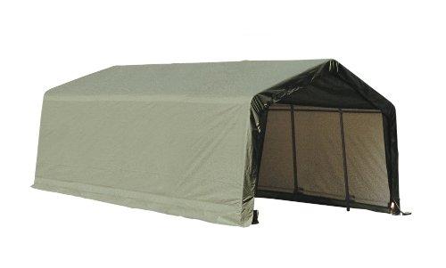 ShelterLogic-73432-Grey-12x20x10-Peak-Style-Shelter-0