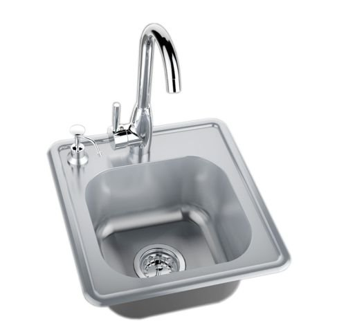 Single-Sink-with-Cold-Hot-Water-Faucet-0