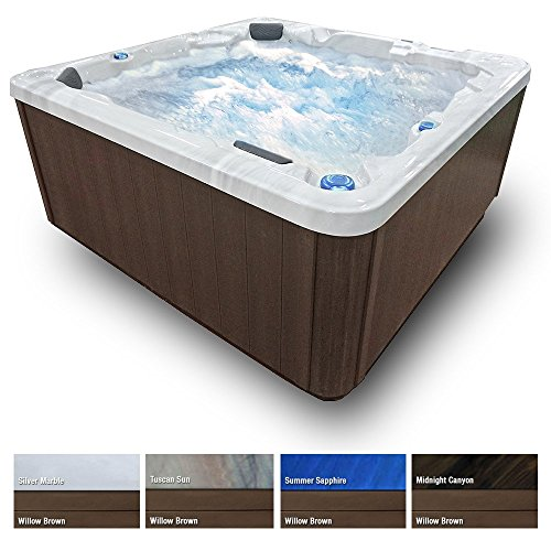 Soothing-Waters-Spas-5-Person-Hot-Tub-Brown-Cabinet-43-Stainless-Steel-Jets-Waterfall-LED-Lights-Cover-0-0