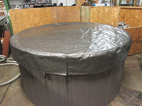 Spa-Hot-Tub-Cover-Cap-SunShield-84-Round-Nordic-Video-How-To-0