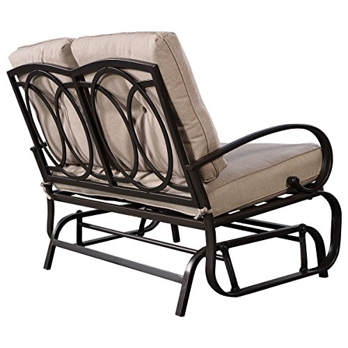 Svitlife-Outdoor-Patio-Cushioned-Rocking-Bench-Loveseat-Bench-Cushioned-Seat-Steel-Furniture-0