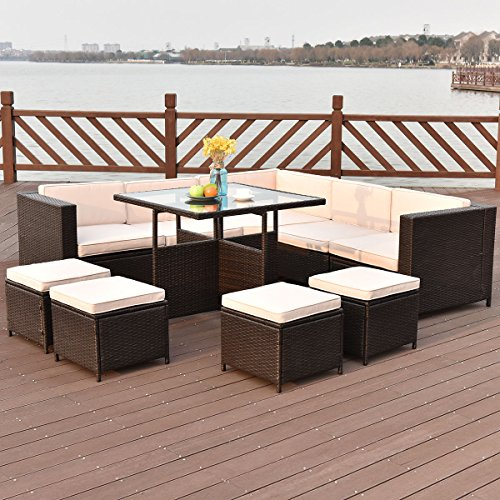 TANGKULA-10-PCS-Wicker-Furniture-Set-Outdoor-Conversation-Set-0-0