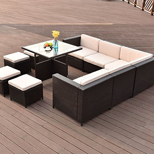 TANGKULA-10-PCS-Wicker-Furniture-Set-Outdoor-Conversation-Set-0-2