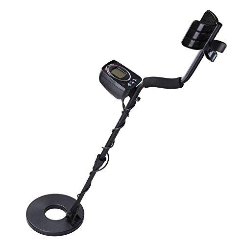 TRIPREL-INCLCD-Metal-Detector-LED-Light-Sensitive-Search-Treasure-Hunter-Waterproof-Coil-Black-0