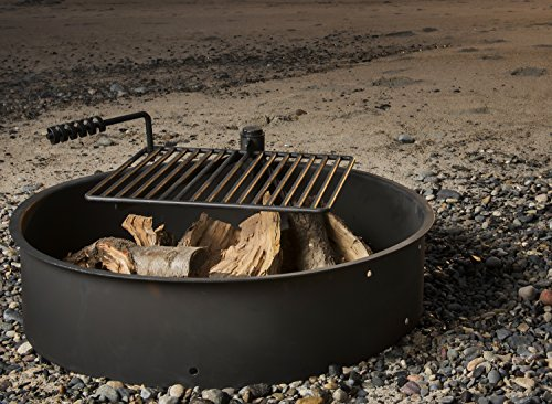 Titan-Outdoors-24-32-36-Steel-Fire-Ring-wCooking-Grate-Campfire-Pit-Camping-Park-Grill-0