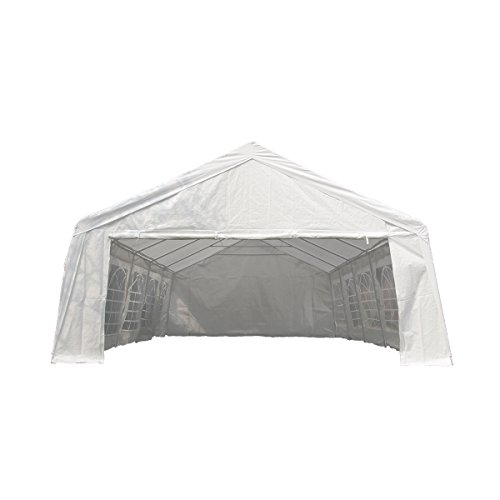 UNIONLINE-197W-x-328D-Heavy-Duty-Outdoor-Wedding-Carport-Canopy-Party-Tent-White-with-Sidewalls-0-1