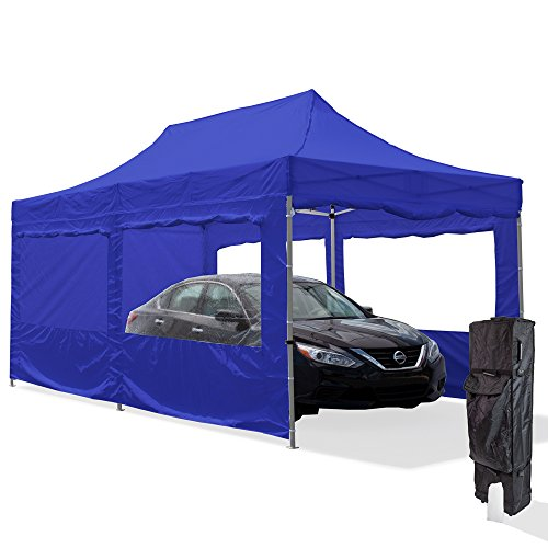 Vispronet-10×20-Aluminum-Carport-Canopy-Tent-with-2-10×20-Window-Walls-2-10×10-Full-Walls-Roller-Bag-and-Stake-Kit-0