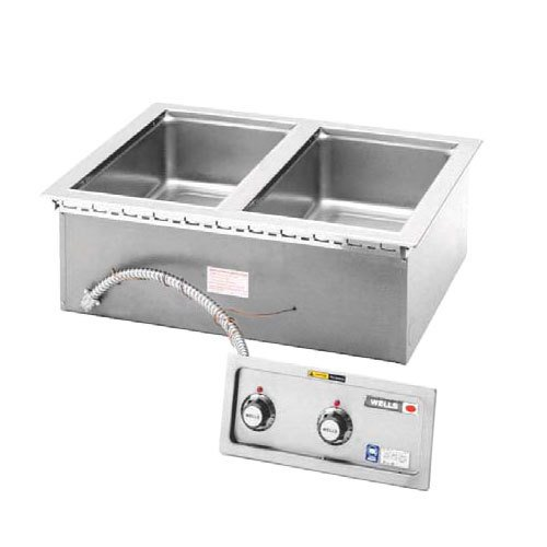 Wells-MOD-200D-Food-Warmer-top-mount-built-in-electric-2-12-x-20-openings-wi-0