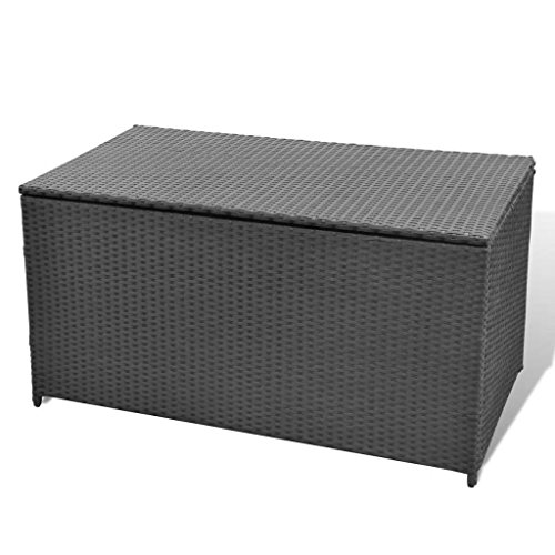 vidaXL-Garden-Storage-Chest-Poly-Rattan-Bench-Cabinet-Box-Organizer-2-Colors-0-2