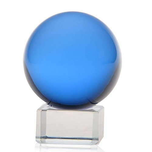 1-pc-100mm-Asian-Feng-Shui-Blue-Color-Glass-Crystal-Ball-with-Clear-Glass-Stand-0