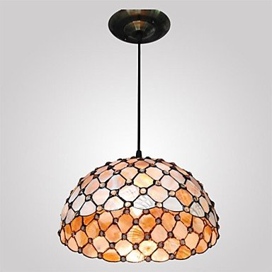 12-Inch-2-Lights-Shell-Material-Tiffany-Haning-Pendant-Light-0-0