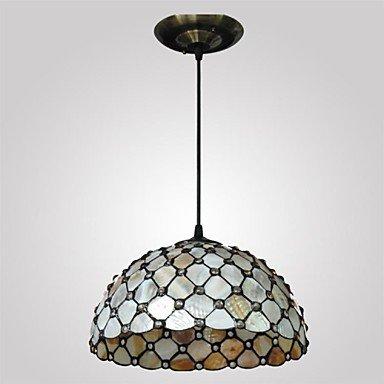 12-Inch-2-Lights-Shell-Material-Tiffany-Haning-Pendant-Light-0-1