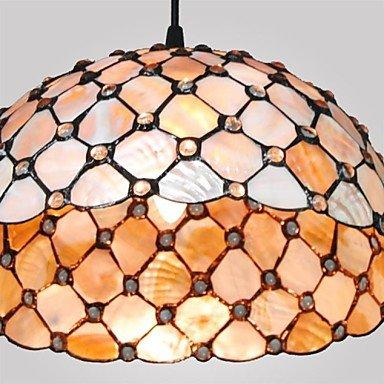 12-Inch-2-Lights-Shell-Material-Tiffany-Haning-Pendant-Light-0-2