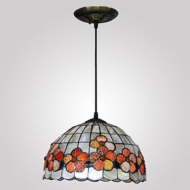 12-Inch-Flower-Design-Shell-Material-Hanging-Tiffany-Pendant-Light-0-1