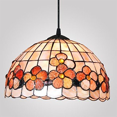 12-Inch-Flower-Design-Shell-Material-Hanging-Tiffany-Pendant-Light-0-2