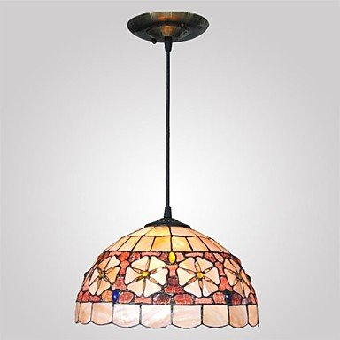 12-Inch-Shell-Material-2-Lights-Tiffany-Pendant-Light-0-0