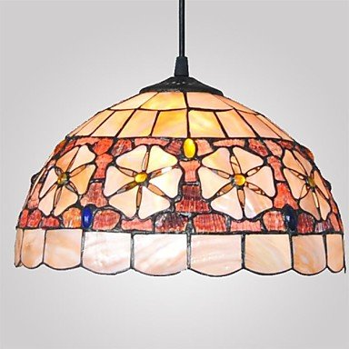 12-Inch-Shell-Material-2-Lights-Tiffany-Pendant-Light-0-2