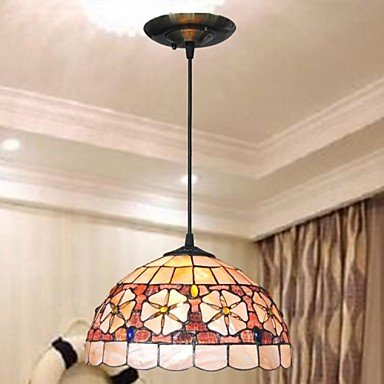 12-Inch-Shell-Material-2-Lights-Tiffany-Pendant-Light-0
