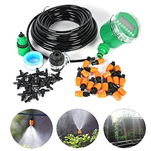 15M-50TF-Automatic-Spray-Drip-Irrigation-System-Self-Watering-Garden-Hose-Kits-with-20-Tee-Joints-Irrigation-Timer-Perfect-Micro-Irrigation-System-for-Flower-Bed-Patio-Garden-Greenhouse-Plants-0