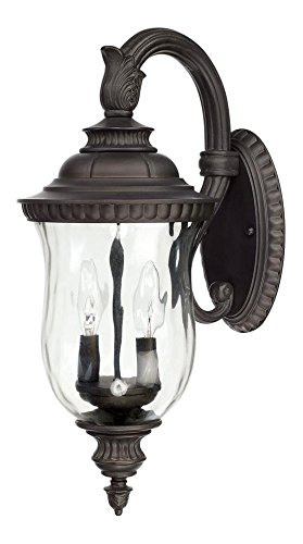 2-Lamp-Outdoor-Wall-Lantern-Top-Arm-Mount-0