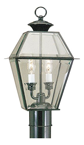 2-Light-Black-Outdoor-Post-Lantern-0