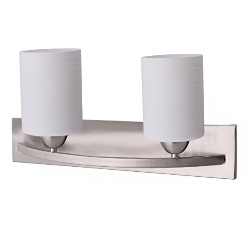 2-Light-Glass-Wall-Sconce-Pendant-Lamp-Shade-Cover-Fixture-Vanity-Metal-Bathroom-0