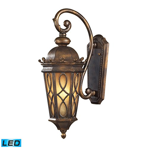 2-Light-Wall-Bracket-In-Hazlenut-Bronze-And-Amber-Scavo-Glass-LED-0