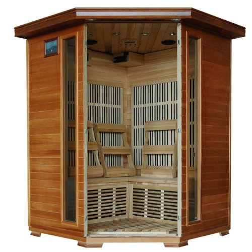 3-Person-Sauna-Corner-Fitting-Red-Cedar-Wood-Infrared-FIR-FAR-Carbon-Heaters-Walls-and-Floor-Heater-Stereo-CD-Player-MP3-Plug-in-Model-SA1312-0-0