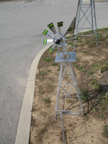4-Ft-Premium-Aluminum-Decorative-Garden-Windmill-Green-Trim-0-2